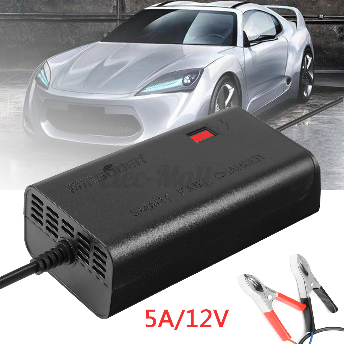 12v 5a 6a 10a smart car motorcycle pwm battery charger automatic intelligent ebay. Black Bedroom Furniture Sets. Home Design Ideas