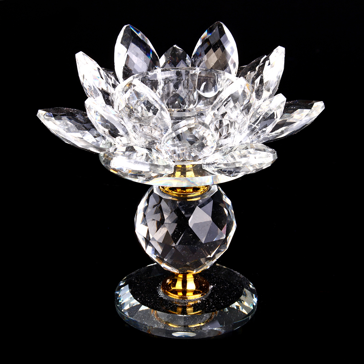 Colorful-Crystal-Glass-Lotus-Candle-Tea-Light-Holder-Buddhist-Candlestick-9-16cm
