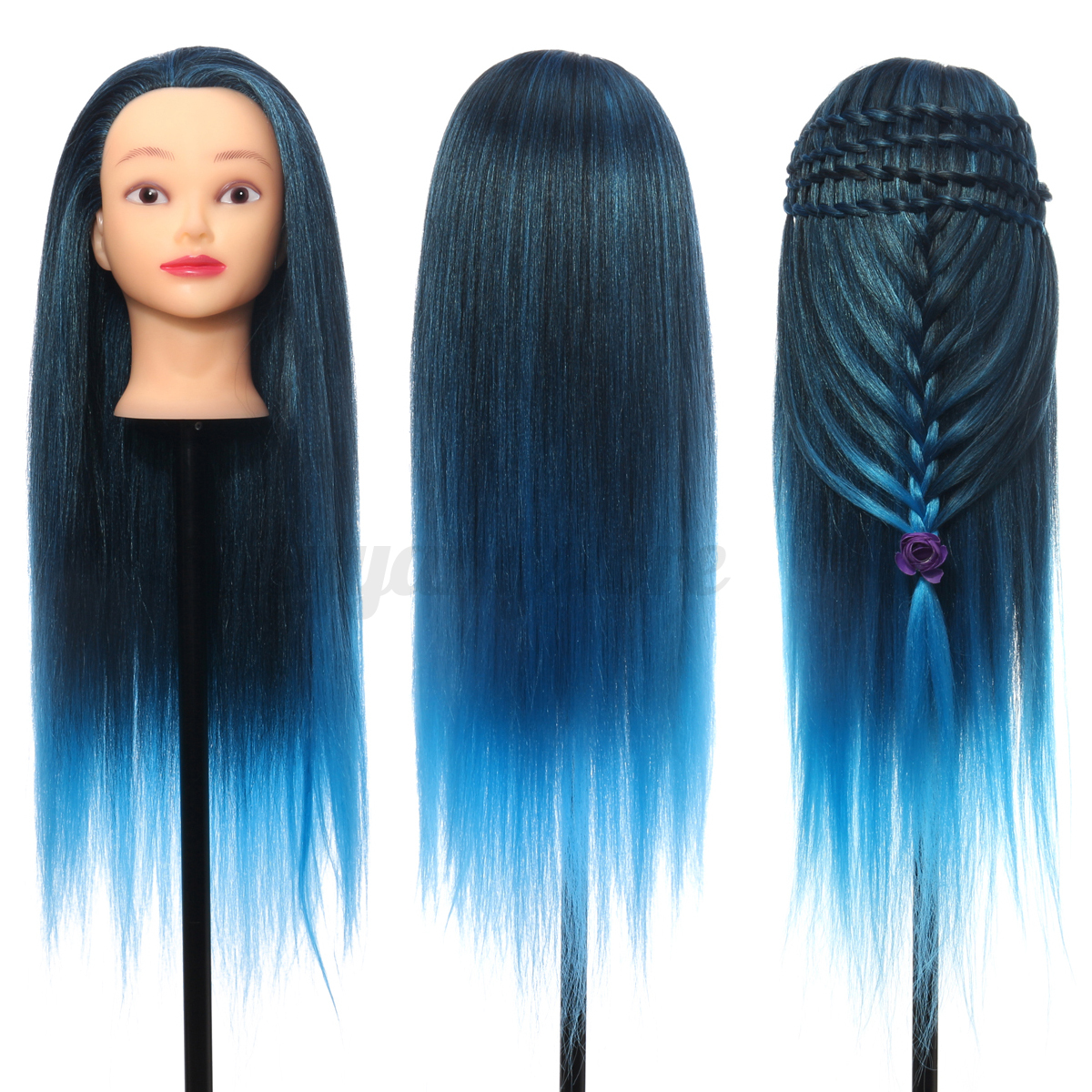 26 Colorful Hair Hairdressing Practice Training Head Mannequin