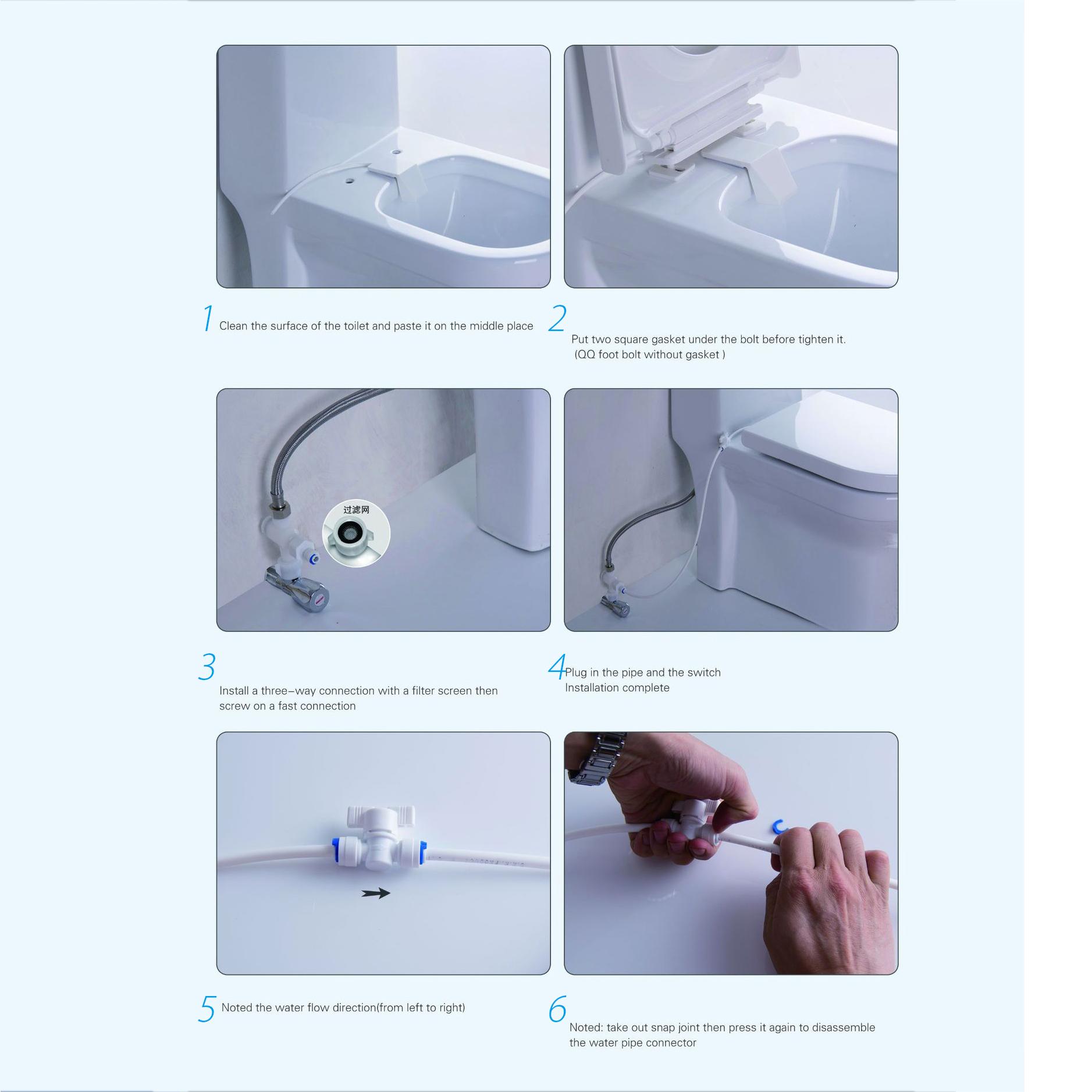 WC Toilet Seat Sanitärgerät Bidet Sprüher Intelligentes Waschen Smart Nozzle Neu