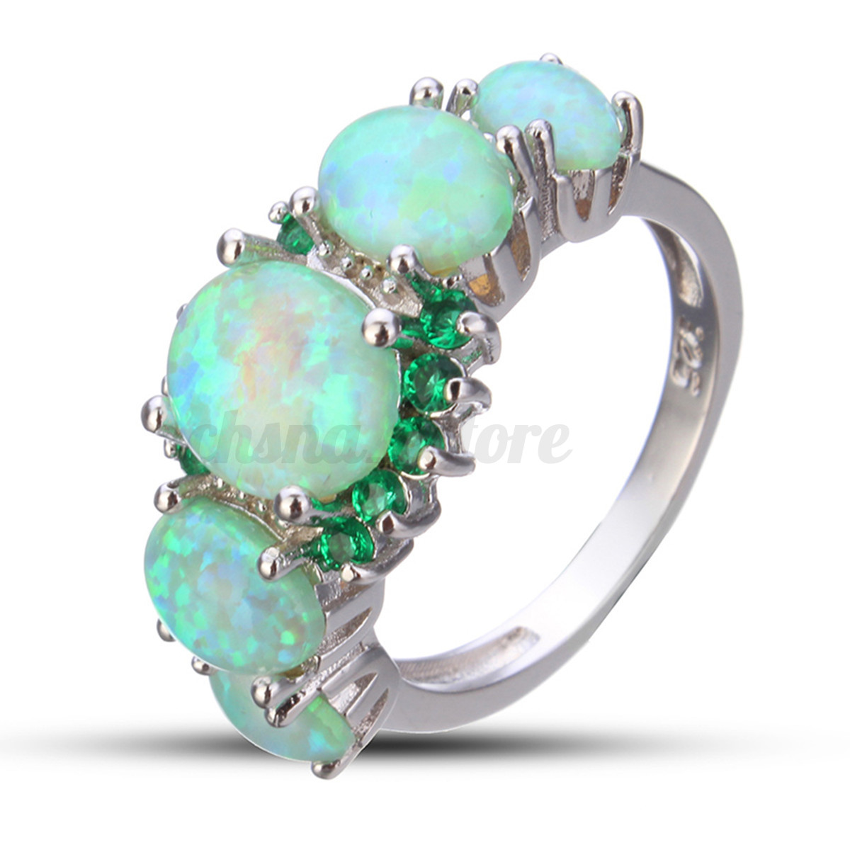 women may gemstone for ring sterling cut jewelry rings emerald green engagement from trillion silver birthstone item leige in gems