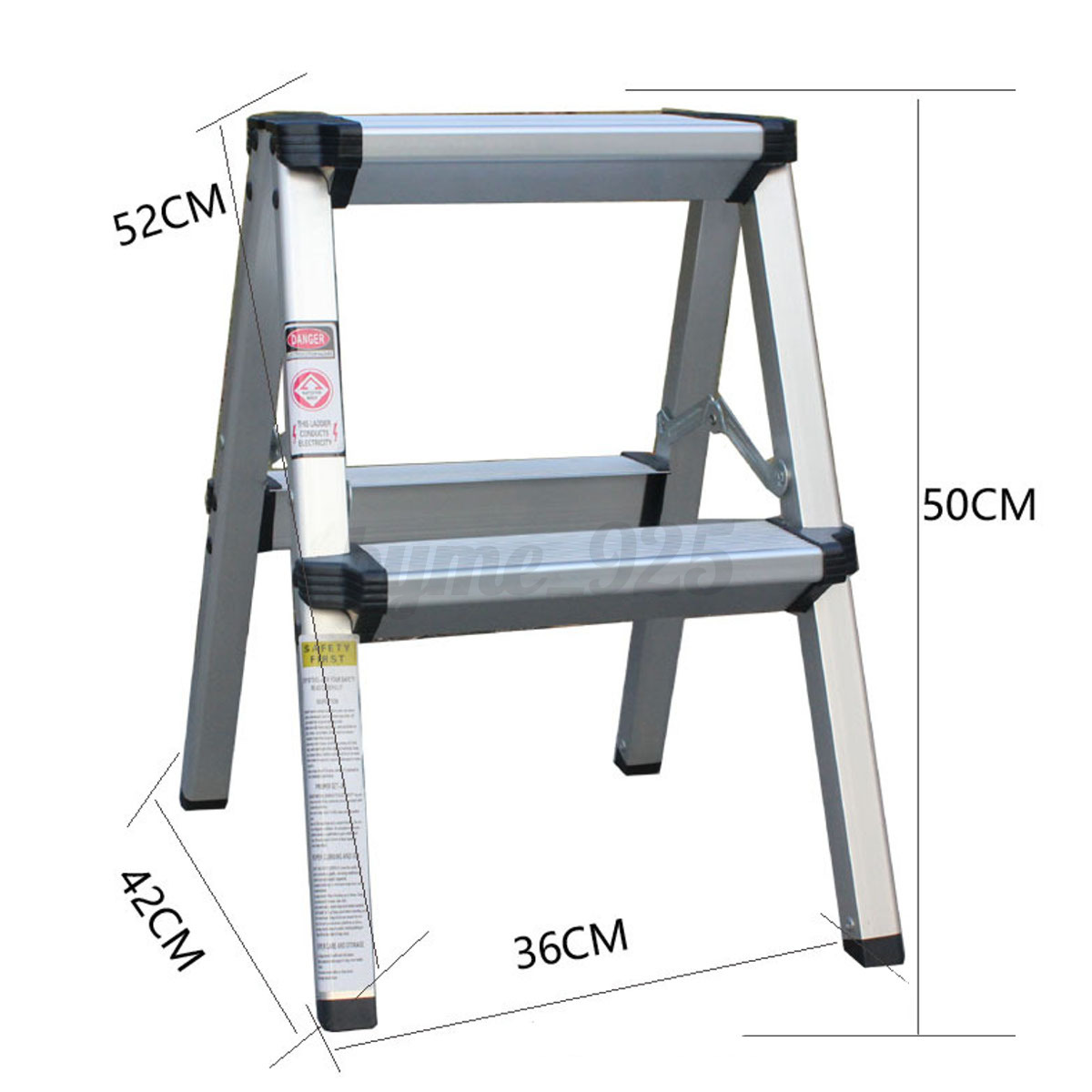 2 Step Stool Folding Ladder Anti Slip Safety Aluminium