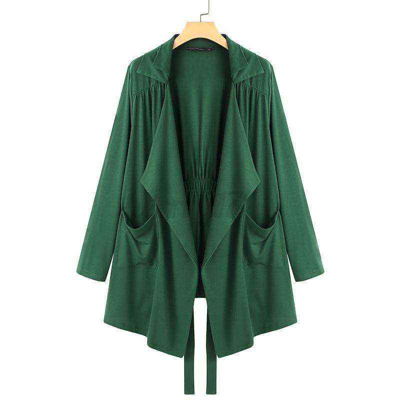 thumbnail 7 - ZANZEA-UK-Womens-Long-Sleeve-Solid-Cardigan-Turn-Down-Collared-Shirts-Top-Blouse