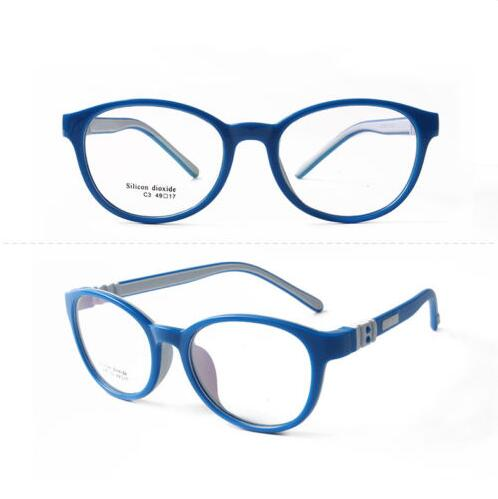 Silicone-Cage-Enfant-Clear-Myopia-Lunettes-Flexible-Eyeglasses-for-Garcon-Fille