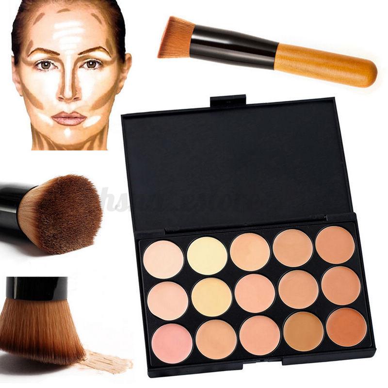 15-Colores-Paleta-Corrector-Crema-Maquillaje-Esponja-Puff-Pincel-Brocha-Polvos