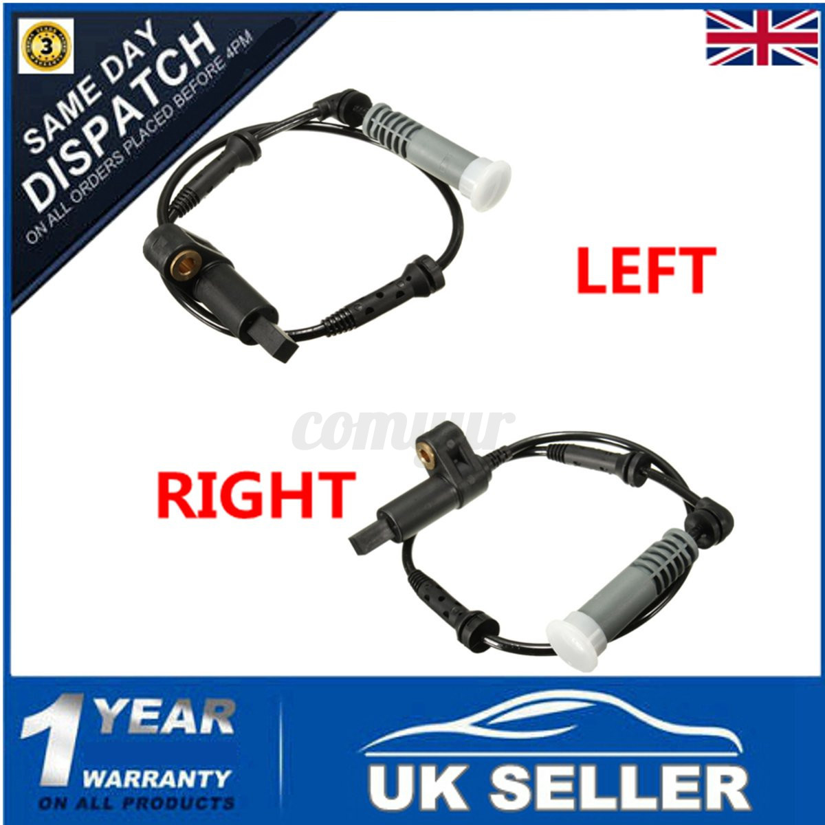 For BMW E46 1998-2000 Front Pair ABS Wheel Speed Sensors 34521164651,34521165609