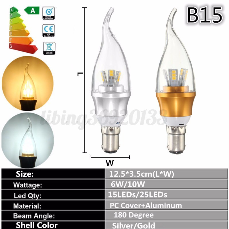 e27 e14 e12 b15 b22 ampoule 6w 10w led 15 25smd al flamme bougie lustre dimmable ebay. Black Bedroom Furniture Sets. Home Design Ideas