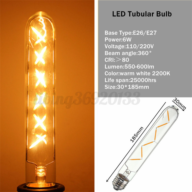 e12 e14 e26 e27 2 6 8 12w led edison gl hbirne filament lampe retro dimmbar bulb ebay. Black Bedroom Furniture Sets. Home Design Ideas