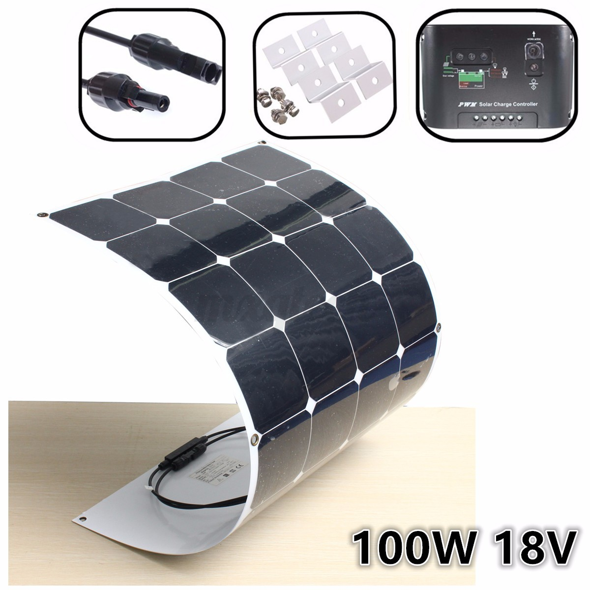 100w 200w 300w 400w 500w 1kw watt solar panel semi flexible mono panneau solaire ebay. Black Bedroom Furniture Sets. Home Design Ideas