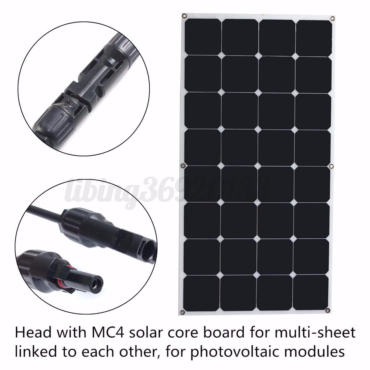 100w 200w 300w 400w 500w 1kw panneau solaire semi flexible mono syst me batterie ebay. Black Bedroom Furniture Sets. Home Design Ideas
