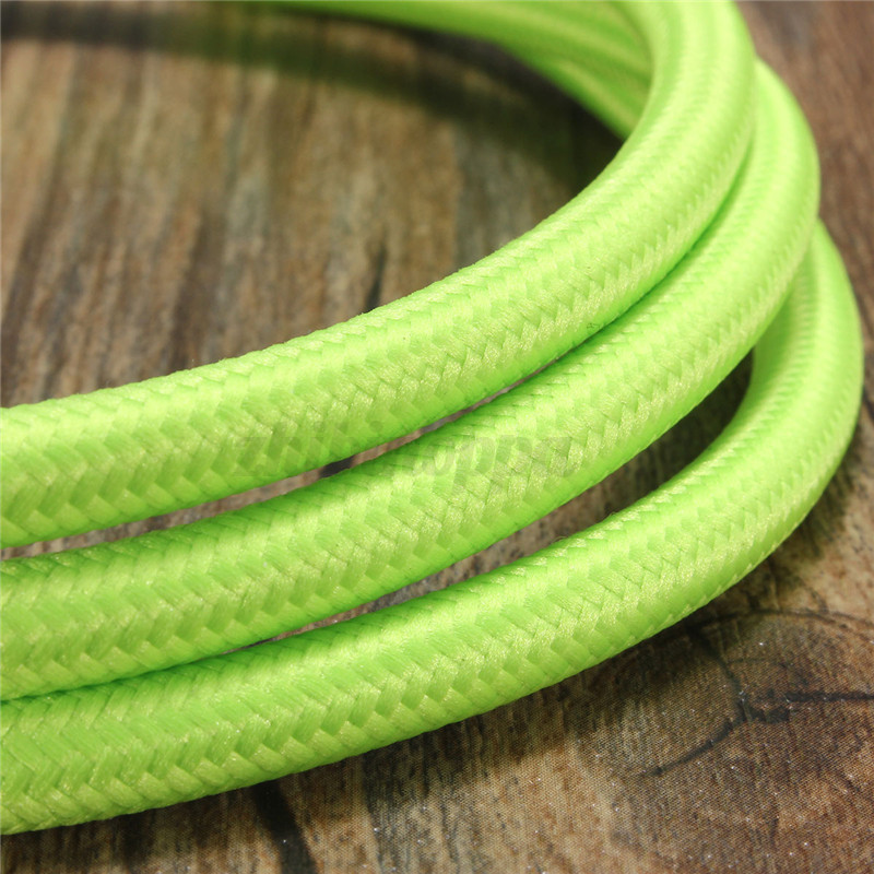 1-2-3-5-10M-2-Cord-Color-Vintage-Twist-Braided-Fabric-Light-Cable-Electric-Wire