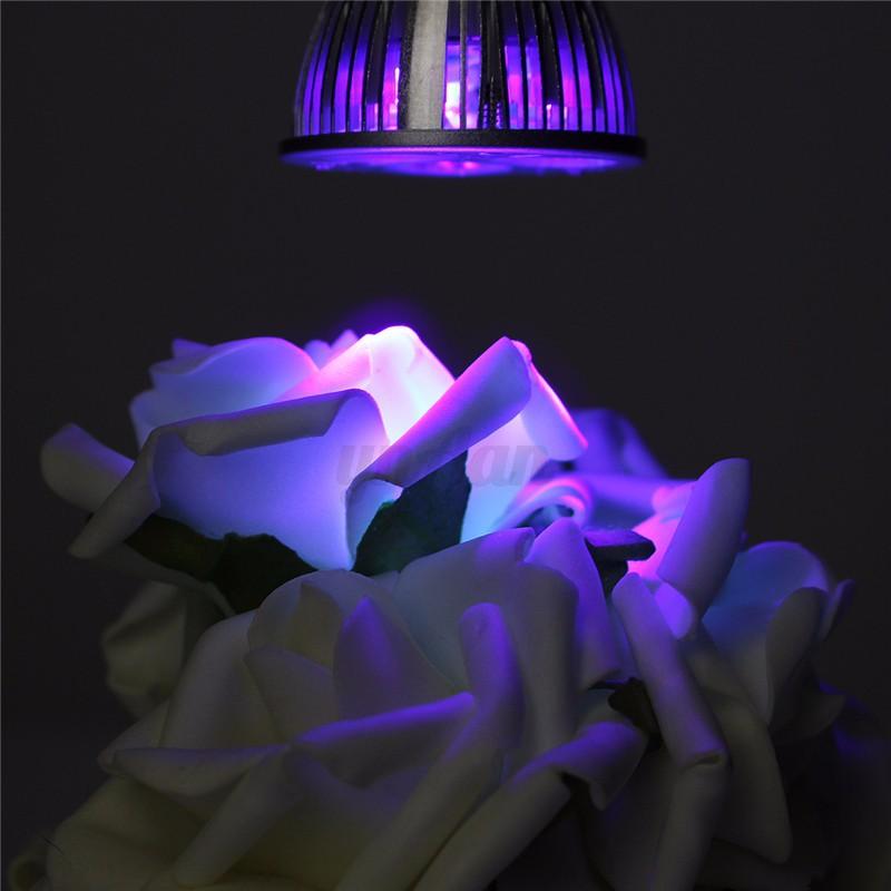 3w e27 b22 gu10 mr16 led uv ultraviolet pflanzenlicht pflanzenleuchte grow lampe ebay. Black Bedroom Furniture Sets. Home Design Ideas