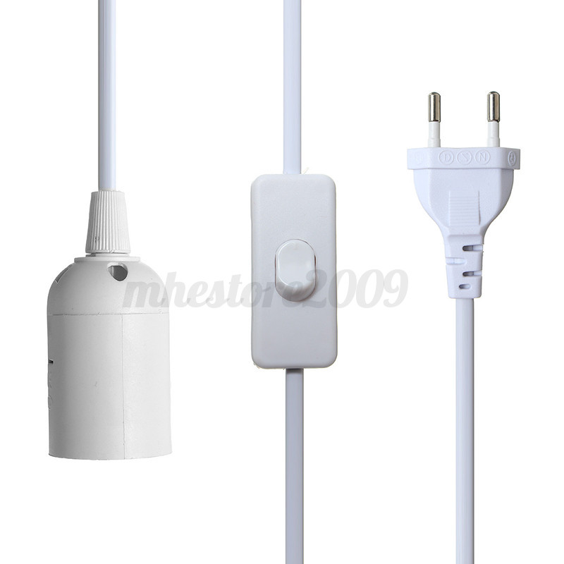 E27 E26 Plug In Hanging Pendant Light Fixture Lamp Bulb