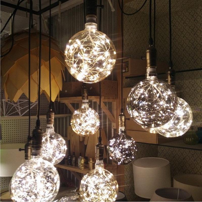 st64 g80 g95 sterne edison led lichterkette gl hbirne leiste lampe beleuchtung ebay. Black Bedroom Furniture Sets. Home Design Ideas