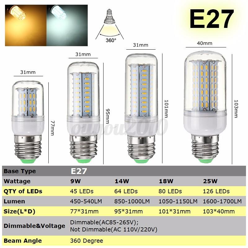 dimmable b22 e27 gu10 g9 e14 led ampoule led ma s smd 4014 14 18 25w lampe bulbs ebay. Black Bedroom Furniture Sets. Home Design Ideas