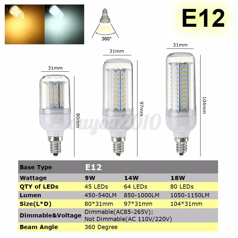 Dimmable-B22-E27-GU10-G9-E14-LED-Ampoule-LED-Mais-SMD-4014-14-18-25W-Lampe-Bulbs