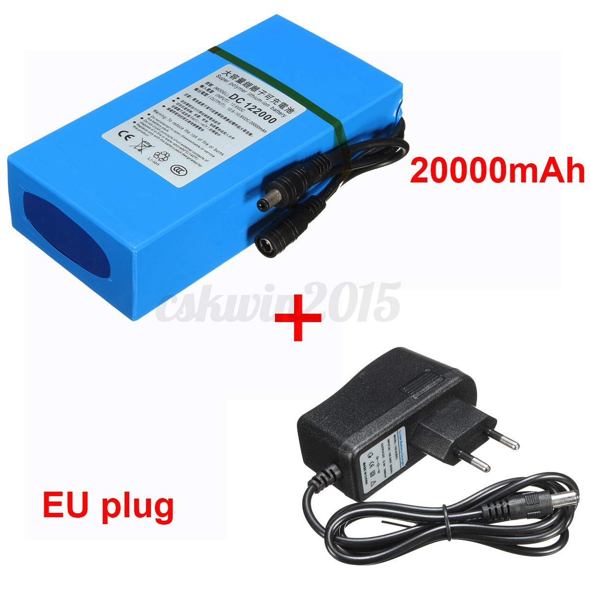 20000mah dc12v li ion ionen akku wiederaufladbar batterie ladeger t eu adapter ebay. Black Bedroom Furniture Sets. Home Design Ideas