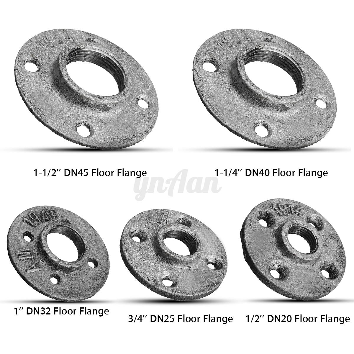Silver cast iron steel tube pipe floor flange