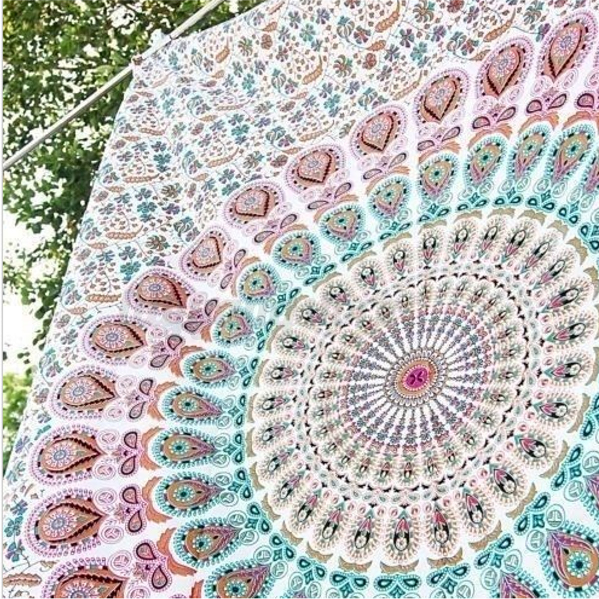 indisch mandala tapisserie wandteppich wandbehang badetuch. Black Bedroom Furniture Sets. Home Design Ideas
