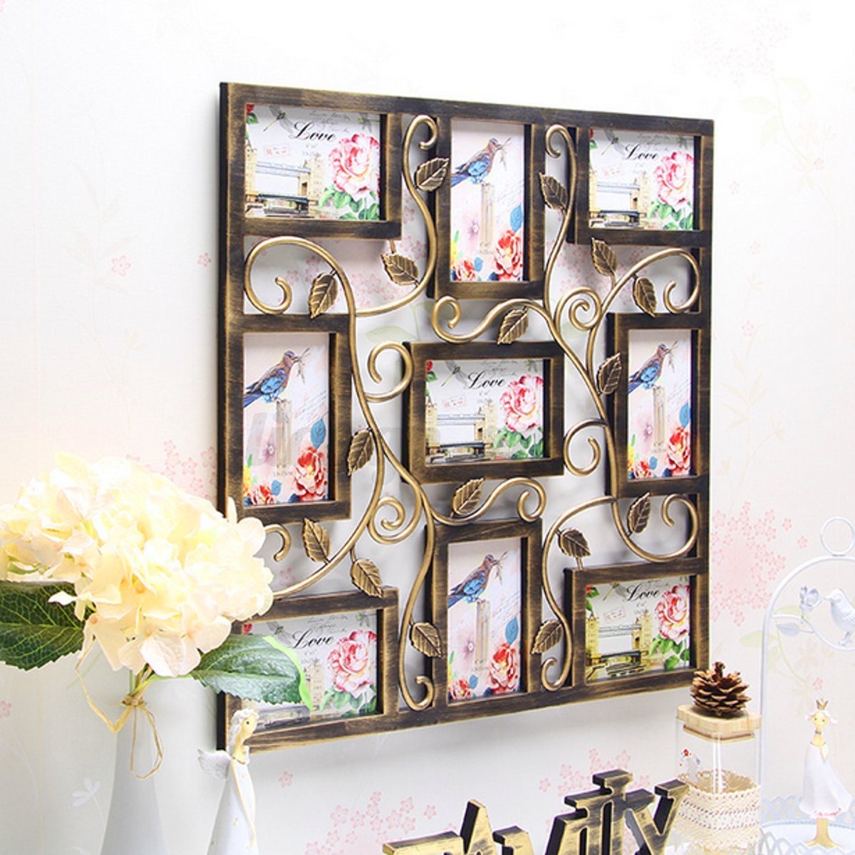 8 types 6 39 39 collage multi photo frames picture display wall hanging decor gifts. Black Bedroom Furniture Sets. Home Design Ideas