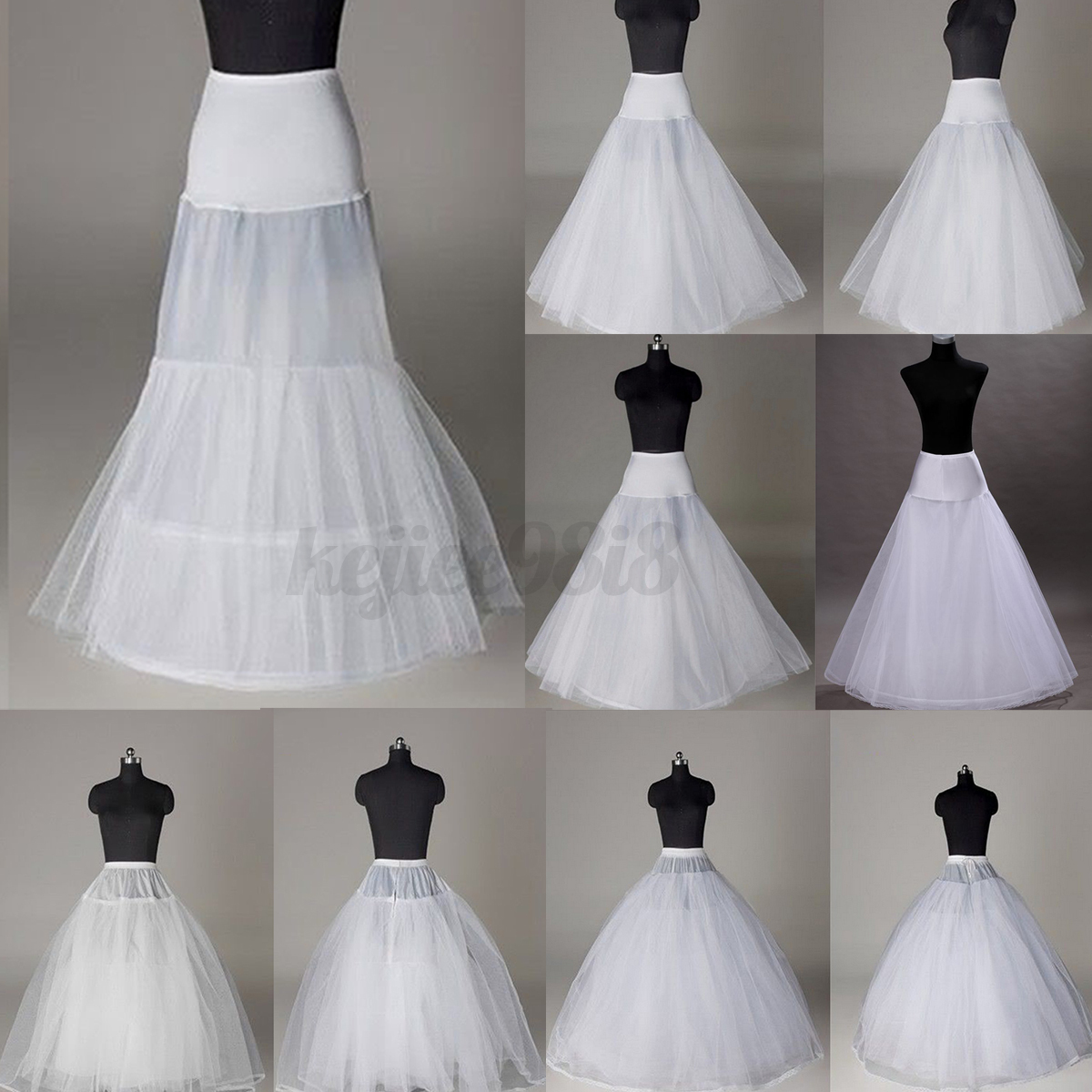 Bridal Wedding Prom Dress Hoopless Crinoline Underskirt Fancy ...