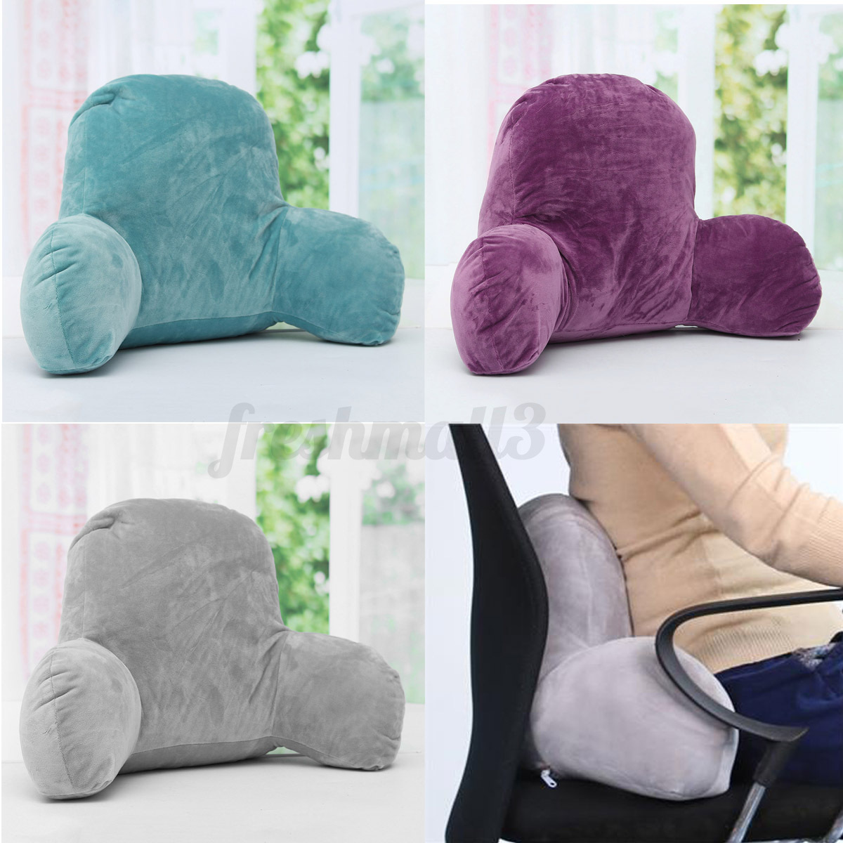 3 color lounger bed rest back pillow support arm stable tv