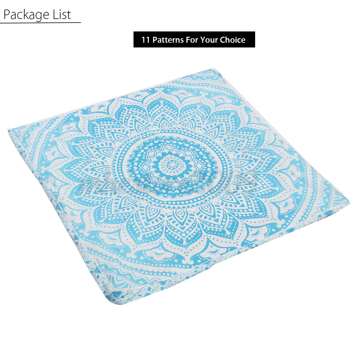Large Square Decorative Pillow Covers : Bohemian Large Mandala Square Floor Pillow Throw Case Indian Cushion Cover Pouf eBay