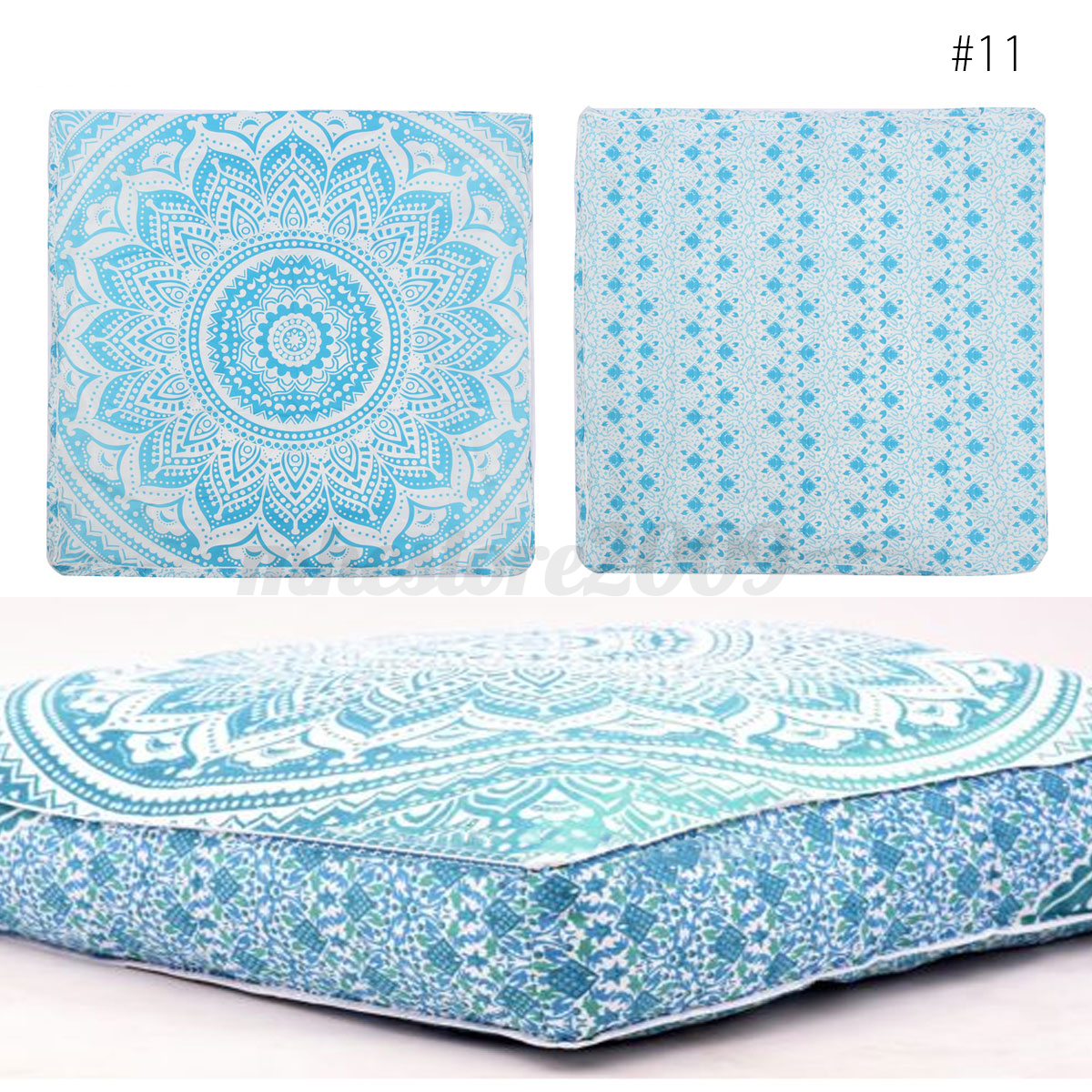 Large Floor Pillow Cases : Bohemian Large Mandala Square Floor Pillow Throw Case Indian Cushion Cover Pouf eBay