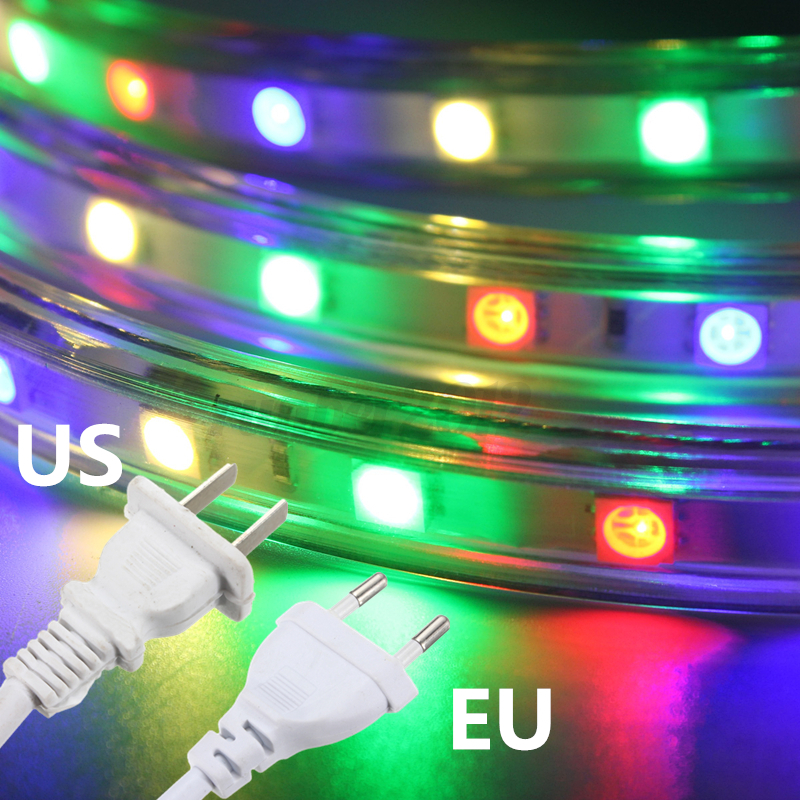 1-20m 5050 LED SMD RGB Flexible Tape Rope Strip Light Outdoor Waterproof +Remote