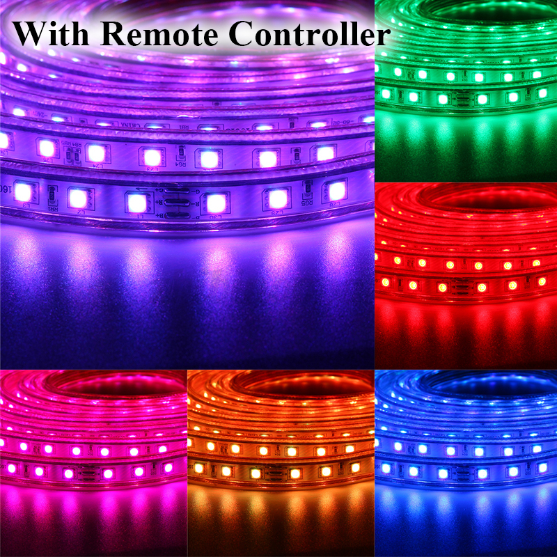 1 20m waterproof smd 5050 rgb led strip 220v 60 ledsm flexible tape 1 20m waterproof smd 5050 rgb led strip aloadofball Images