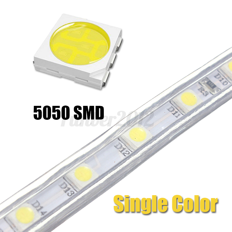 1 20m waterproof 5050 smd rgb 60 leds m flexible tape rope strip light 110v 220v ebay. Black Bedroom Furniture Sets. Home Design Ideas