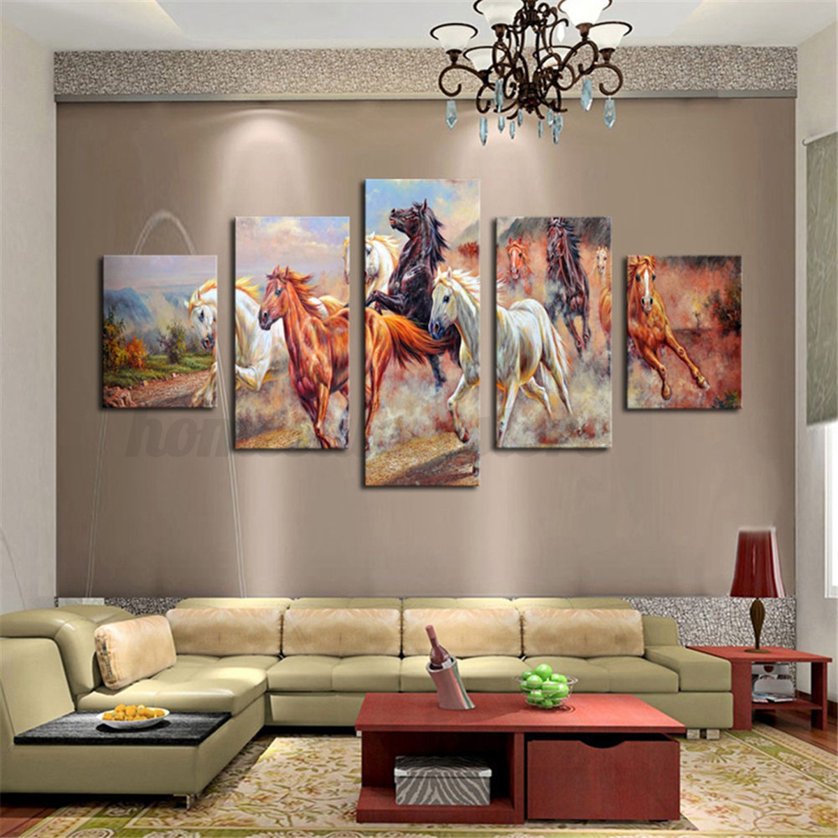 Animal Home Decor: HD Canvas Print Modern Scenery Animal Wall Art Oil