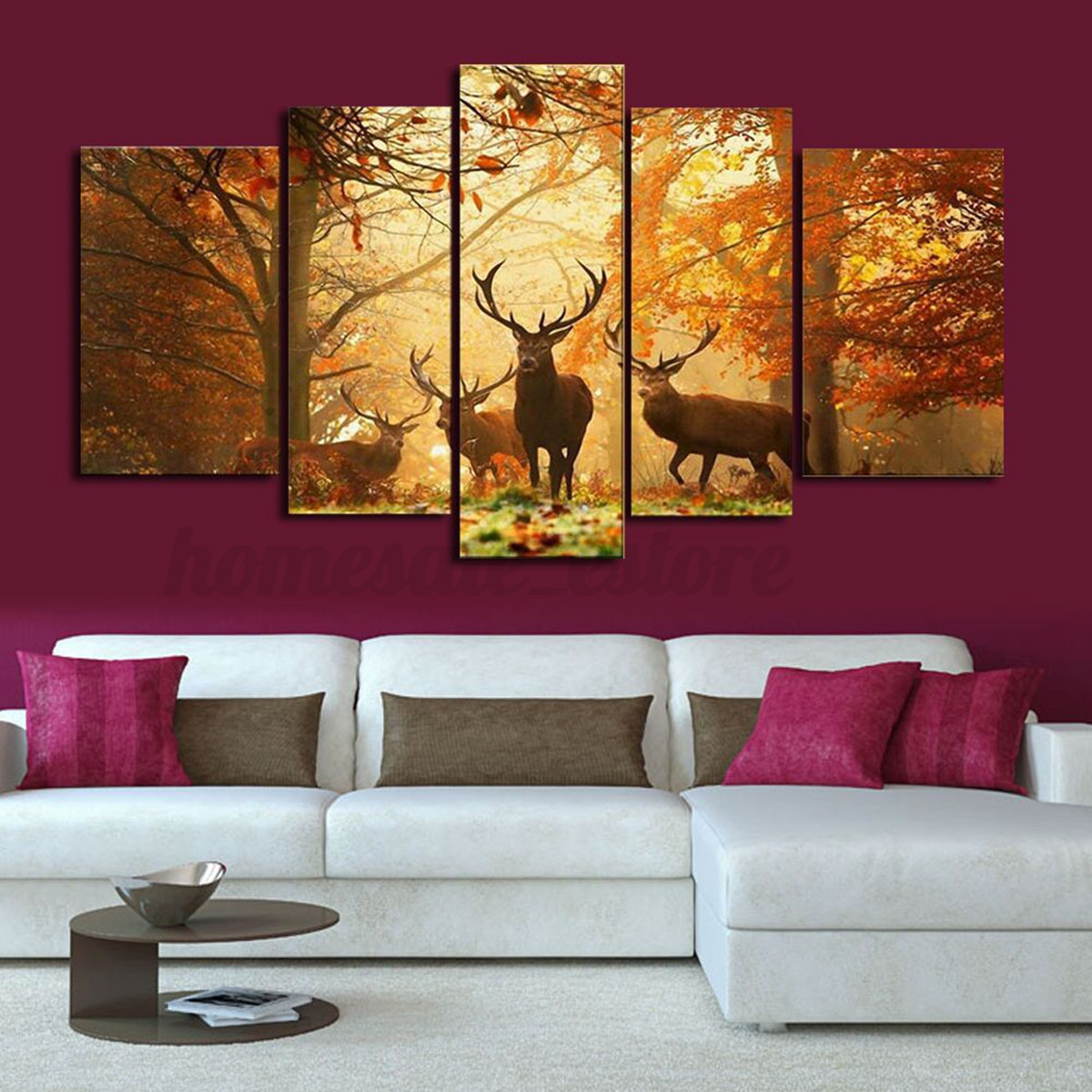 hd canvas print modern scenery animal wall art oil painting home decor unframed ebay. Black Bedroom Furniture Sets. Home Design Ideas