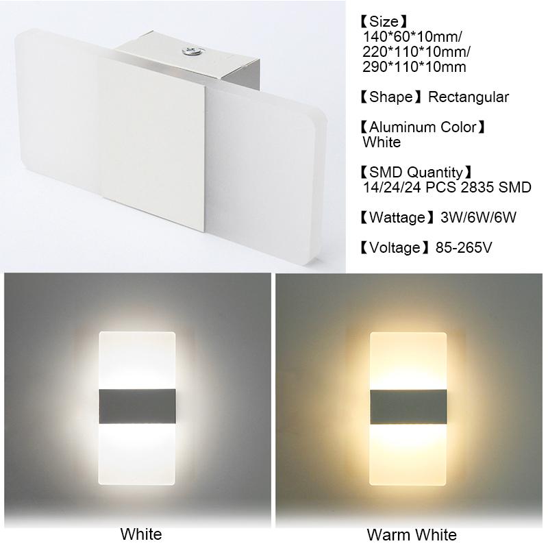 Applique-da-Parete-Led-Luce-Faretto-Lampada-Muro-Arredo-Casa-220v-Minimalism