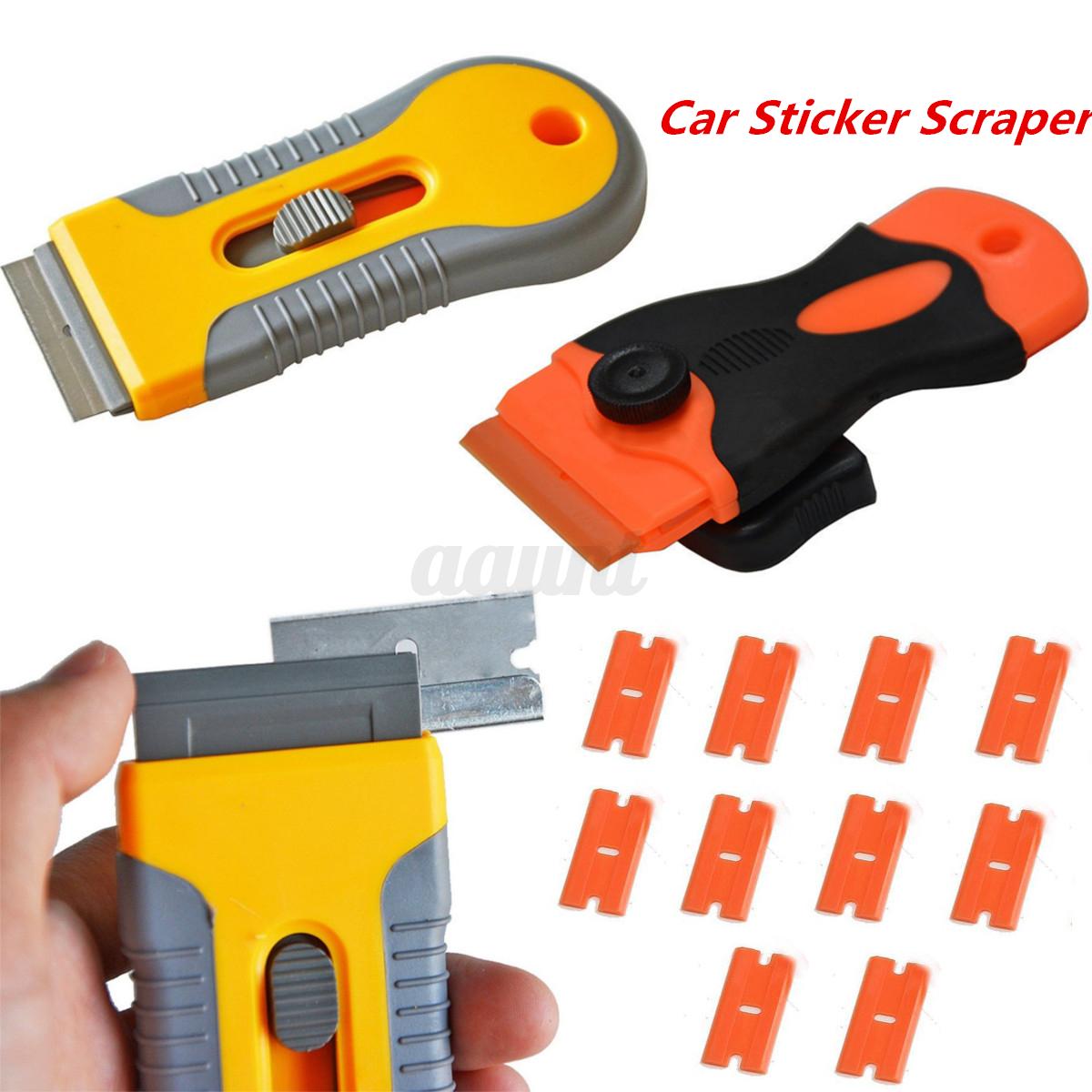Plastic Car Sticker Remover Edge Blade Razor Scraper Set
