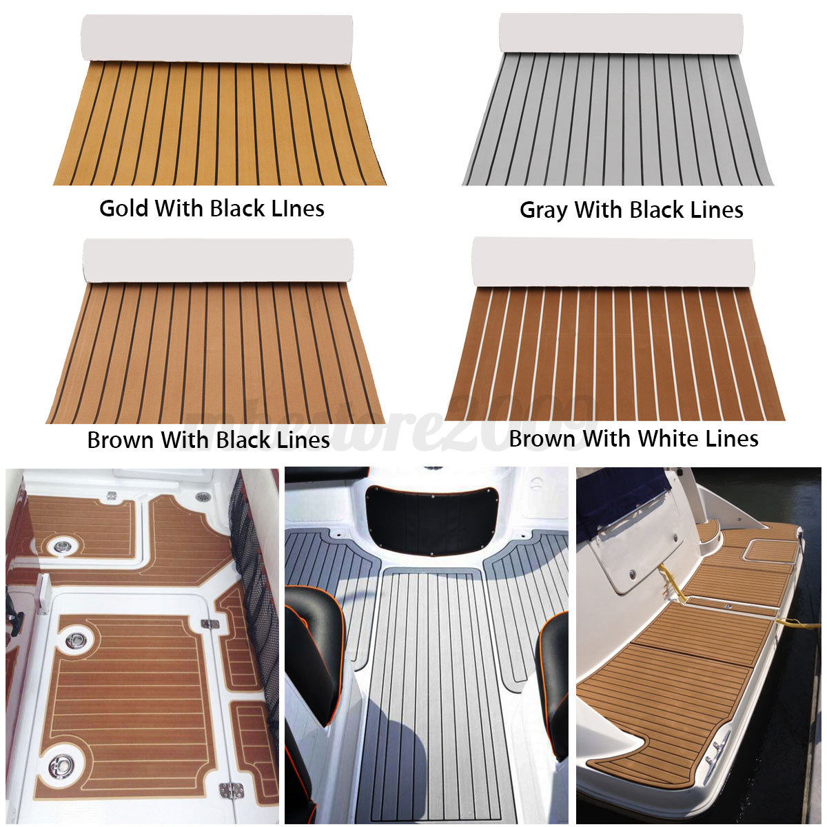 Self Adhesive Eva Faux Foam Teak Sheet Boat Decking Floor