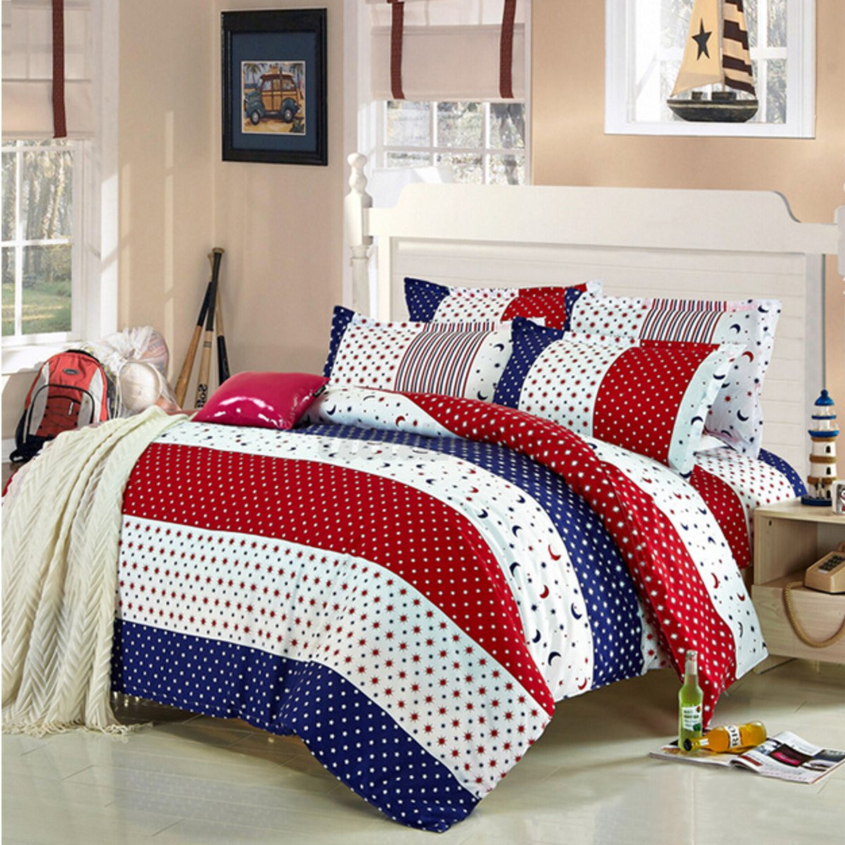 American Flag Queen Bed Set