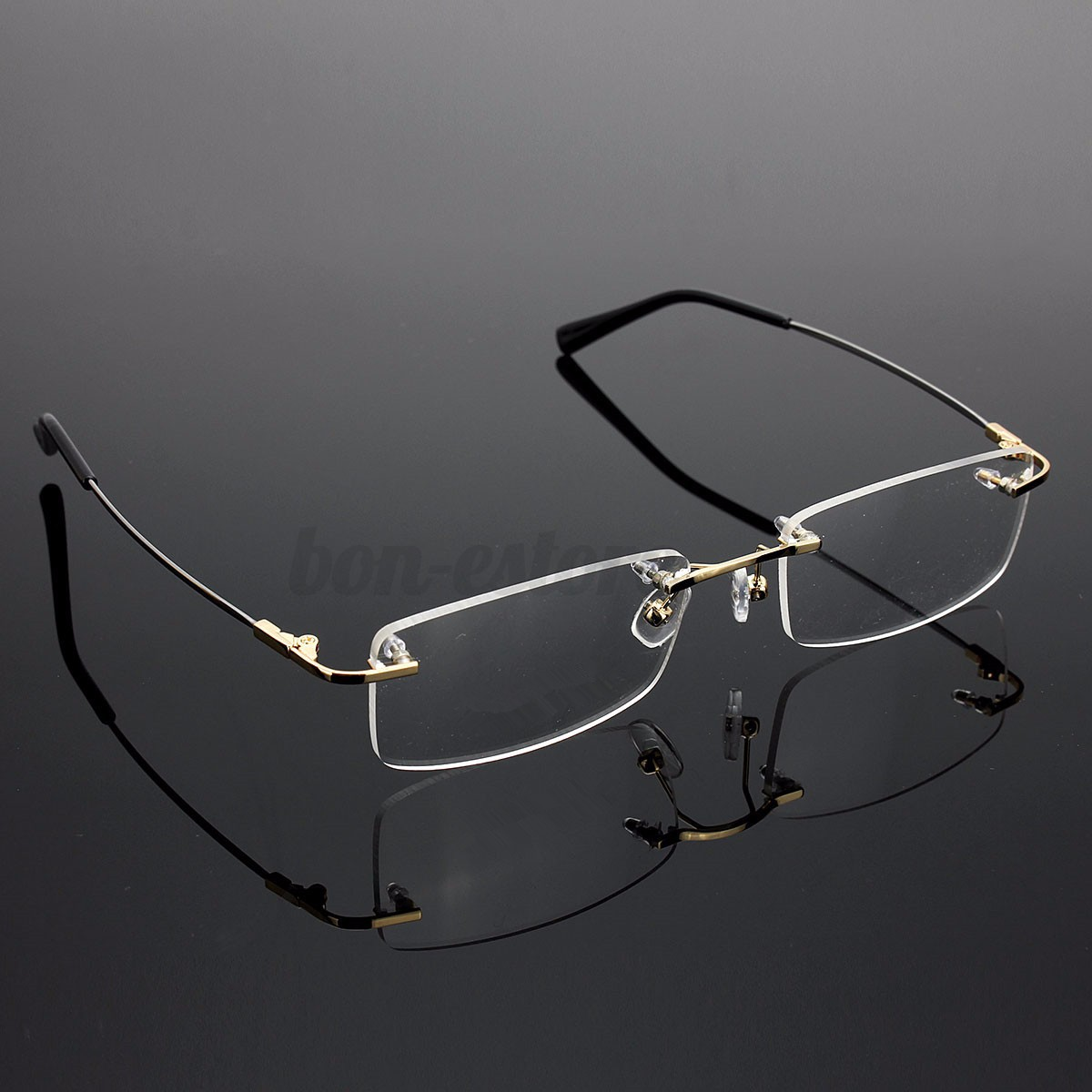New Rimless Glasses Rx Optical Eyeglasses Memory Titanium ...