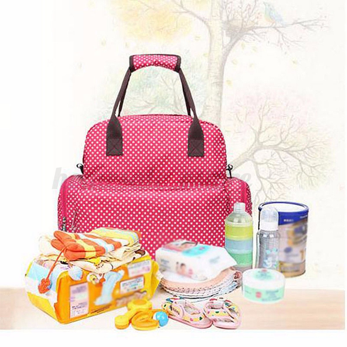 large baby diaper nappy backpack changing bag mummy tote handbag shoulder bag ebay. Black Bedroom Furniture Sets. Home Design Ideas