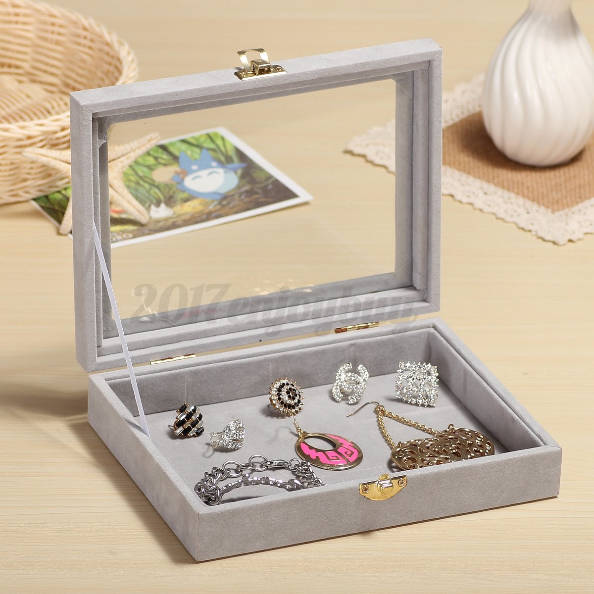 earring storage box uk wooden earring holder jewellery