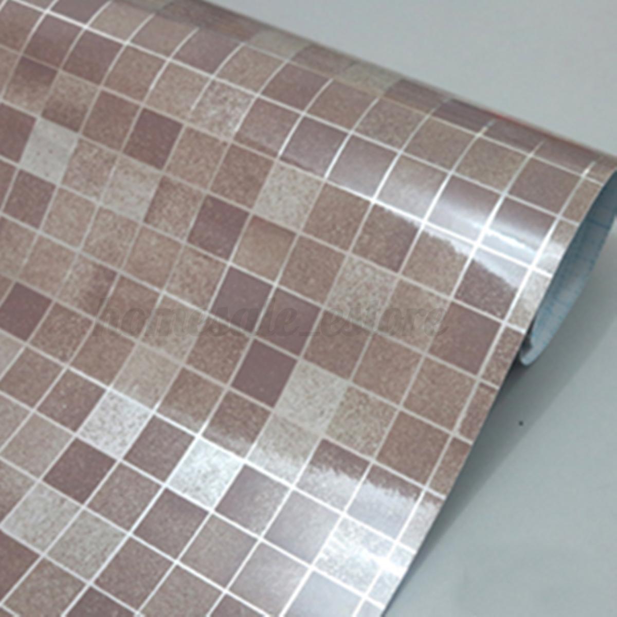 98 39 mosaic aluminum foil wallpaper wall sticker bathroom for Mosaic wallpaper for walls