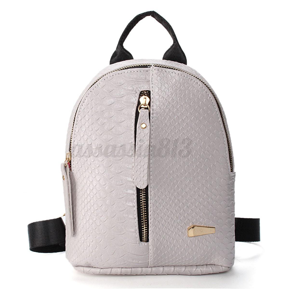 women fashion leather travel shoulder girls backpack
