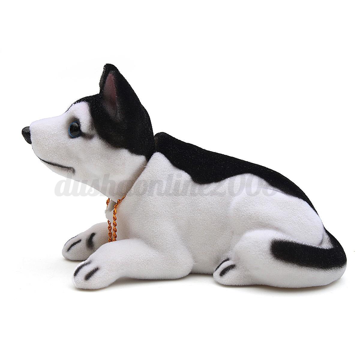 Mignon chien remuer la t te r sine pour voiture bureau for Decoration chien resine