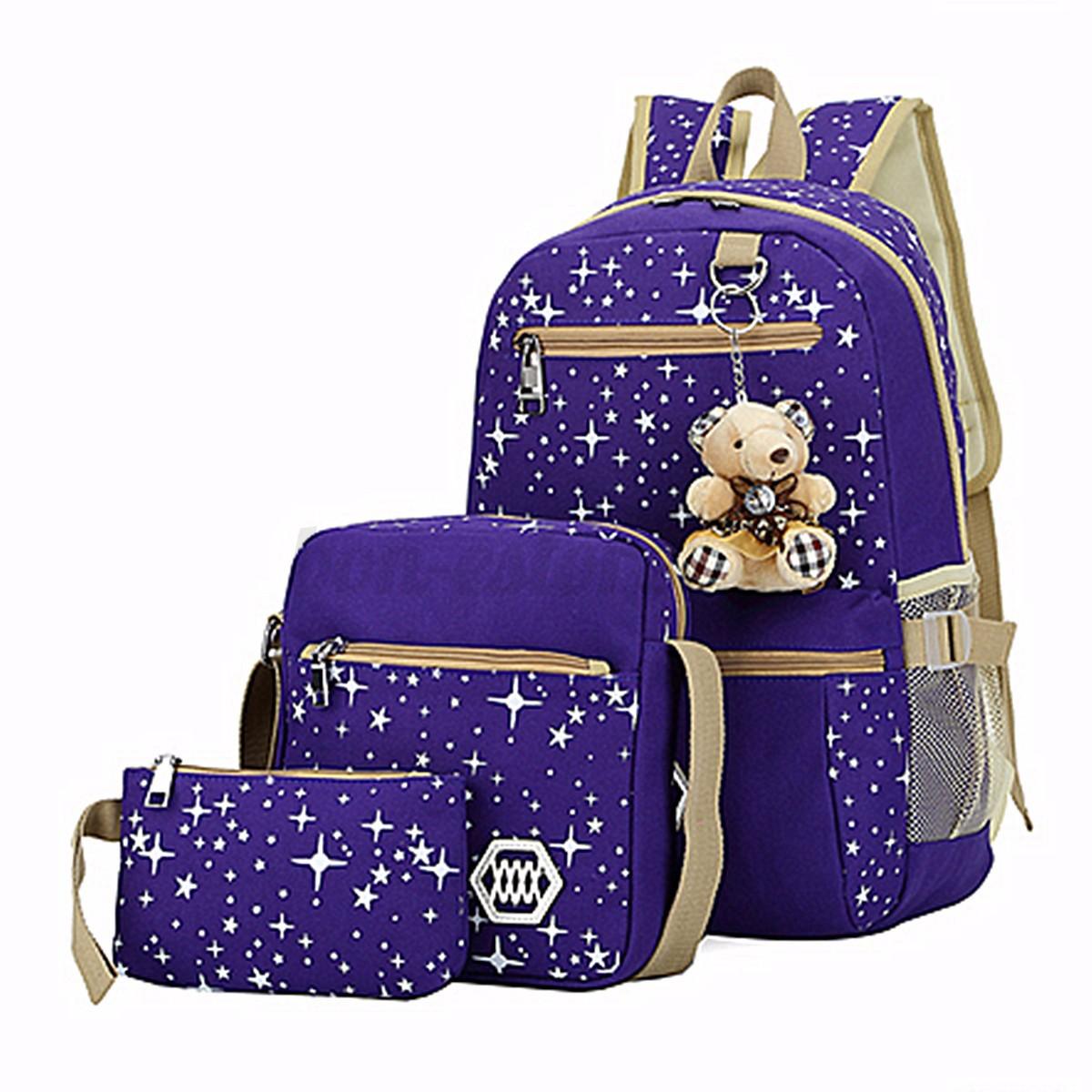 women girls bear backpack school shoulder crossbody bag