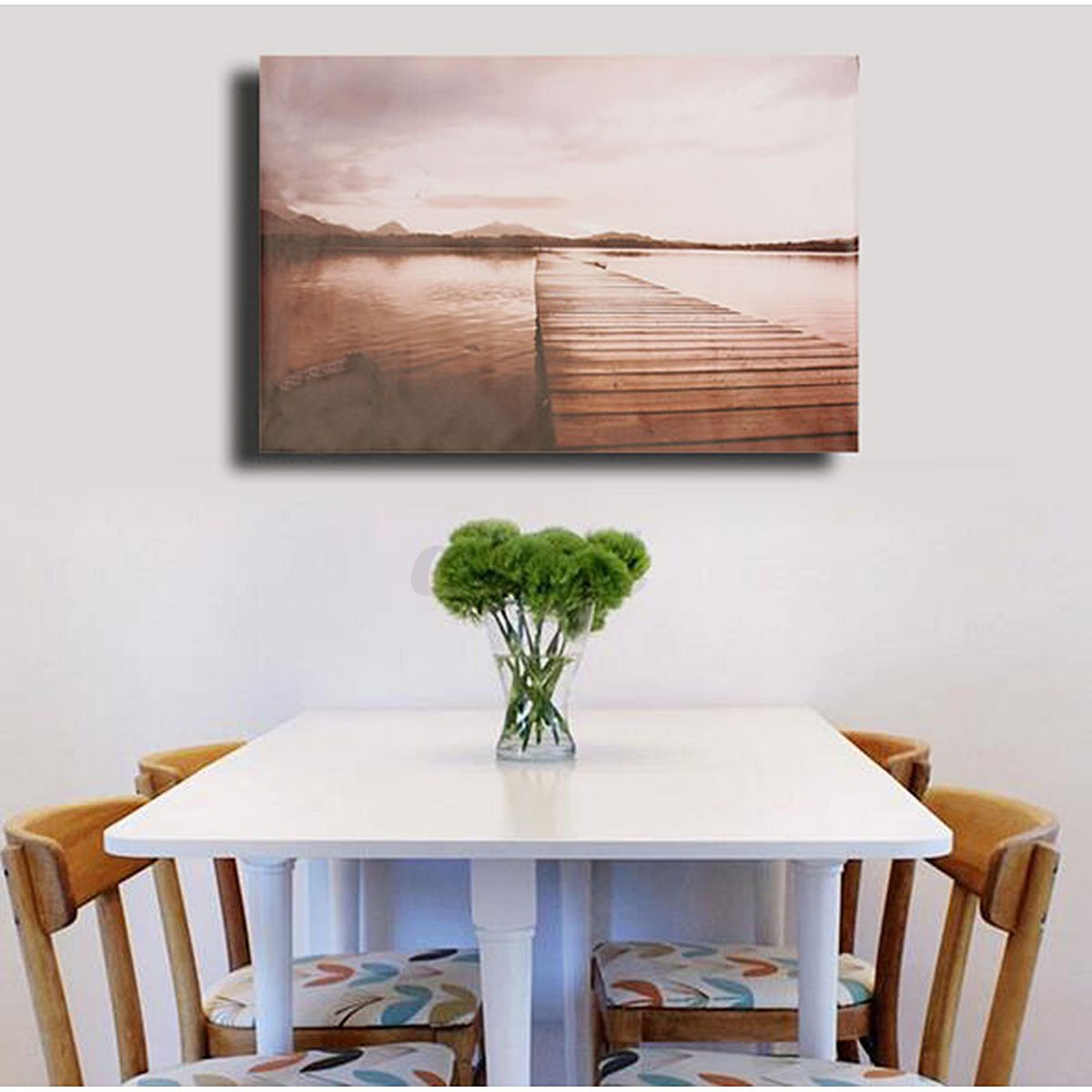 Modern abstract unframed canvas print painting picture for Canvas wall mural