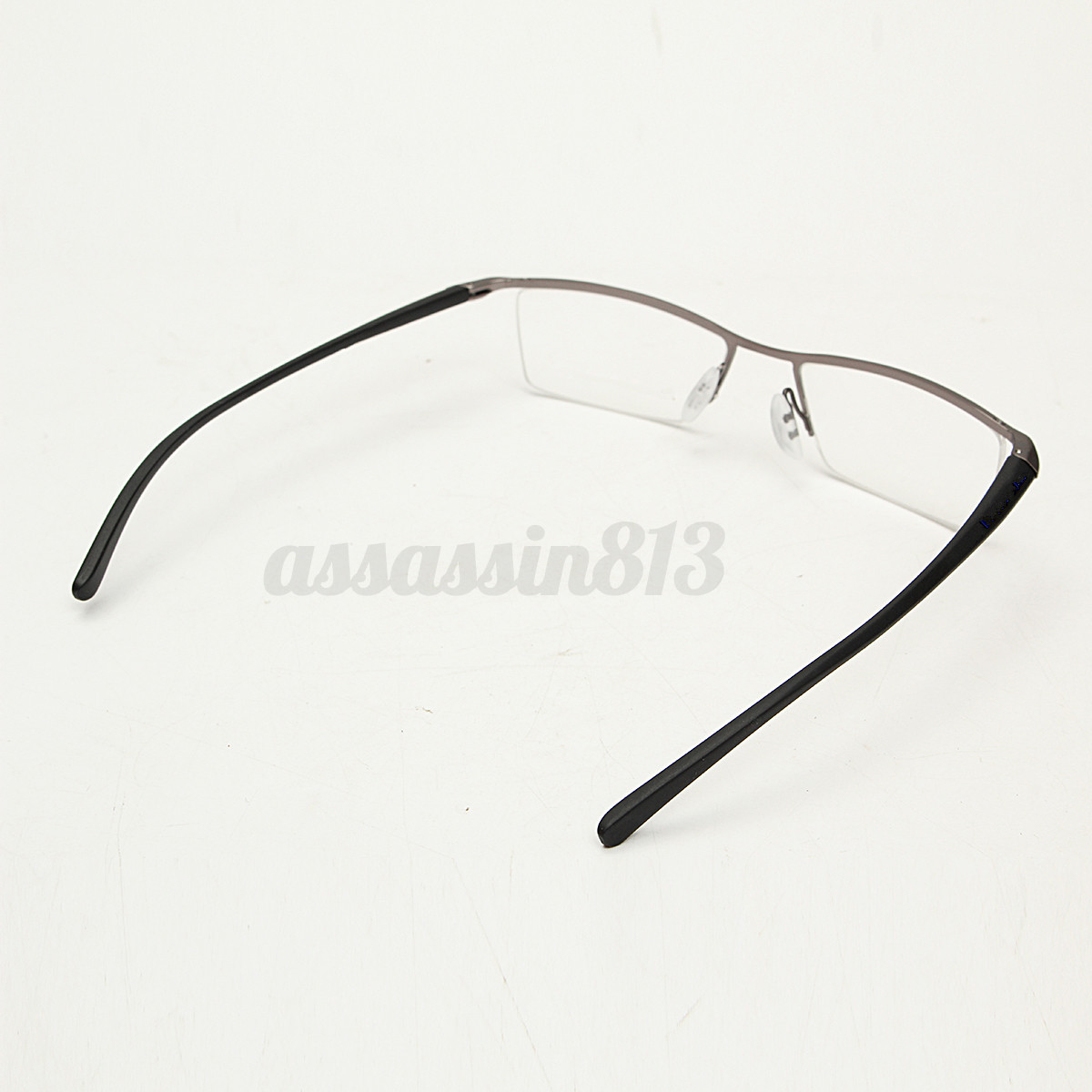 Eyeglass Frame Oxidation : Men Titanium Alloy Spectacles Glasses Frame Half-Rim ...