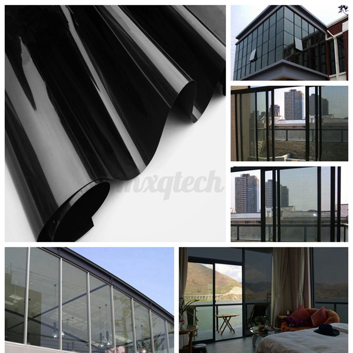 50cmx3m reflective one way mirror window film mirrored for Window tint film