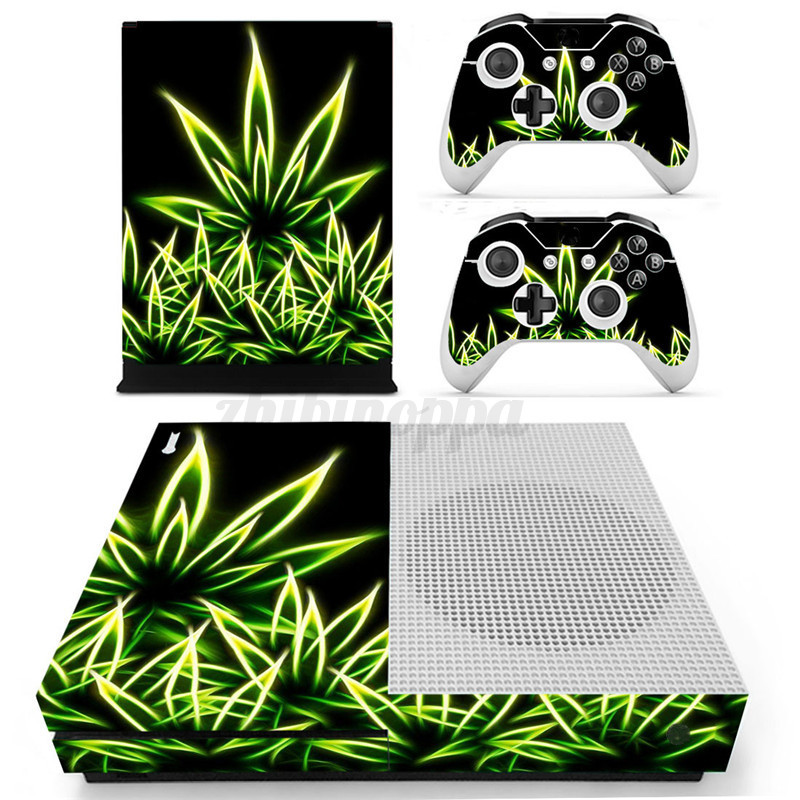 For-Sale-Designer-Skin-Sticker-Decal-For-XBOX-ONE-S-Gaming-Console-2-Controller
