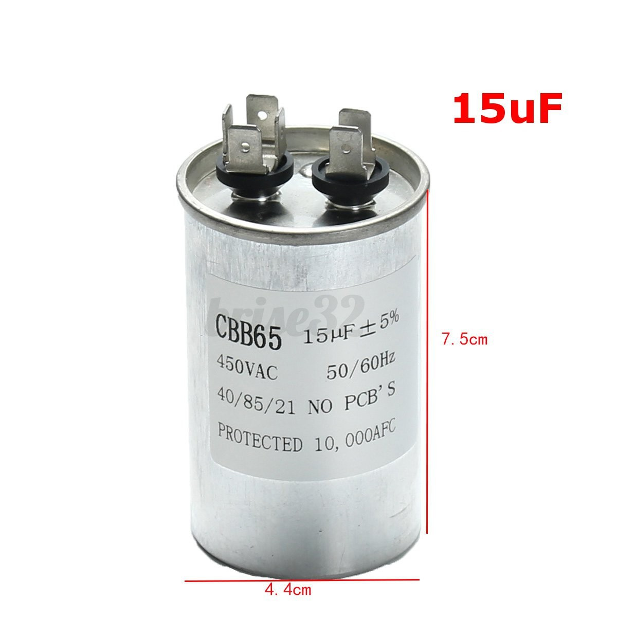 15 30uf cbb65 450vac motor capacitor air conditioner for Air compressor motor starter