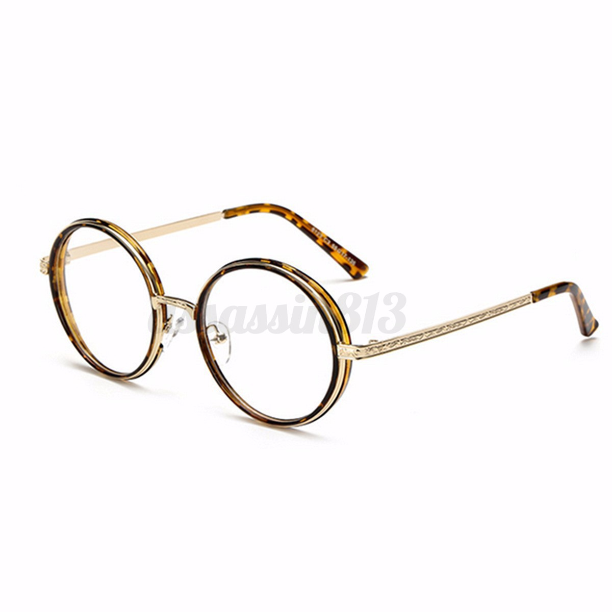 Unisex Vintage Round Tortoise Full Rim Eyeglasses Frame ...